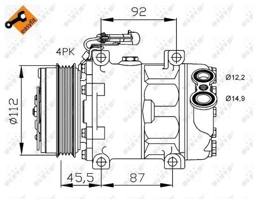 compresseur climatisation nrf 32701 wda. Black Bedroom Furniture Sets. Home Design Ideas