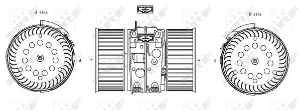 pulseur d u0026 39 air  ventilateur int u00e9rieur  pour renault megane