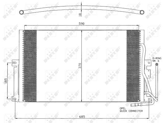 climatisation pour climatisation VAN WEZEL 37005274 Condenseur