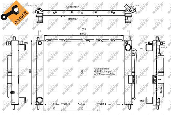 condenseur climatisation pour renault clio iii 1 5 dci 65cv wda. Black Bedroom Furniture Sets. Home Design Ideas
