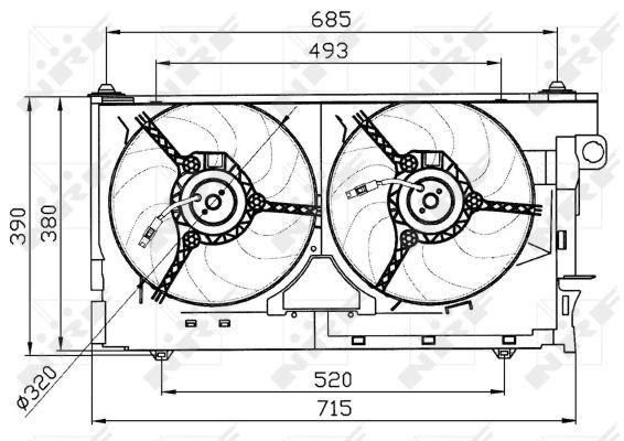 ventilateur  refroidissement du moteur pour peugeot 306