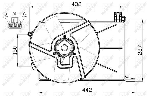 ventilateur  refroidissement du moteur pour opel combo  71   1 7 d 60cv