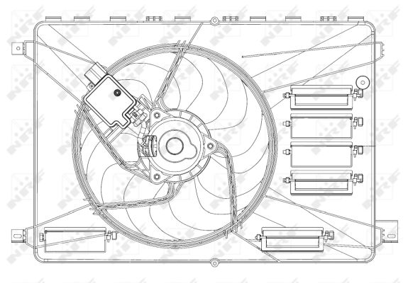 ventilateur  refroidissement du moteur pour ford kuga