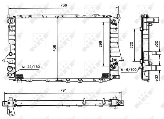 radiateur refroidissement du moteur nrf 51317 wda. Black Bedroom Furniture Sets. Home Design Ideas
