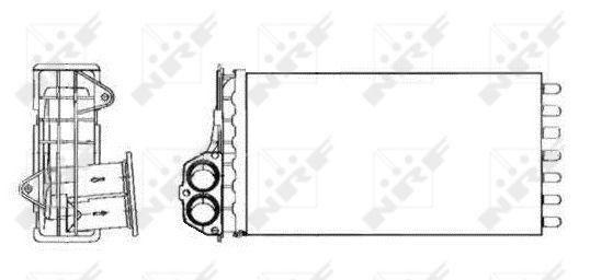 radiateur de chauffage pour peugeot 206 t3e 1 4 i 75cv wda. Black Bedroom Furniture Sets. Home Design Ideas