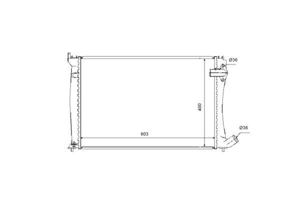 radiateur du moteur pour citro u00cbn xantia ii 2 0 hdi 109 109cv