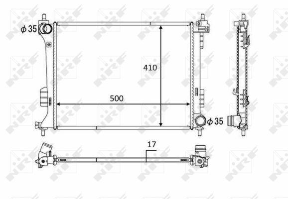 radiateur du moteur pour hyundai i20 1 4 101cv