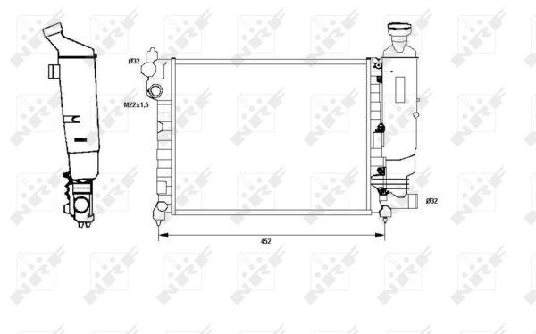 radiateur du moteur pour peugeot 106 i 1 0 50cv