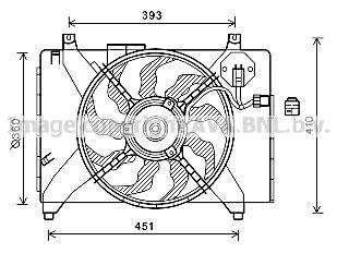 ventilateur  refroidissement du moteur pour hyundai accent