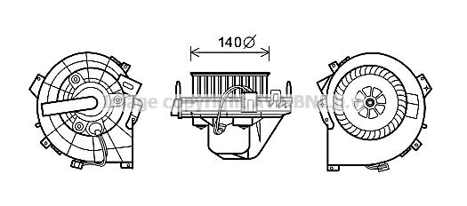 moteur  u00e9lectrique  pulseur d u0026 39 air habitacle pour opel corsa