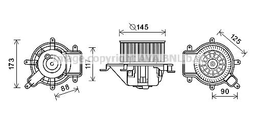 moteur  u00e9lectrique  pulseur d u0026 39 air habitacle pour peugeot