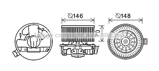 moteur lectrique pulseur d 39 air habitacle pour renault clio iii 1 5 dci 65cv wda. Black Bedroom Furniture Sets. Home Design Ideas