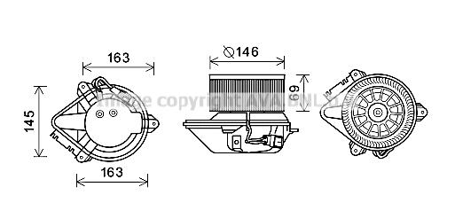 moteur  u00e9lectrique  pulseur d u0026 39 air habitacle pour renault megane i phase 1  u0026 2 cabriolet  ea  1 6