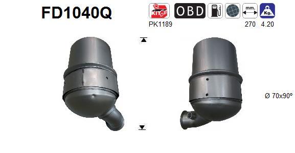 filtre particules suie fap pour peugeot 207 sw 1 6 hdi 112cv wda. Black Bedroom Furniture Sets. Home Design Ideas