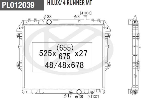 radiateur du moteur pour toyota hilux pick-up 2 5 d4d 102cv