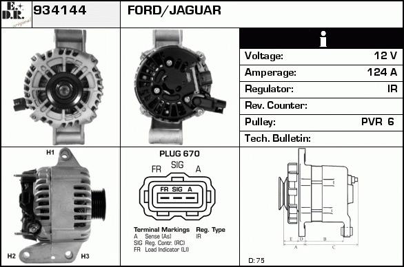 alternateur change standard pour ford mondeo iii b5y 2 0 16v tddi tdci 115cv wda. Black Bedroom Furniture Sets. Home Design Ideas