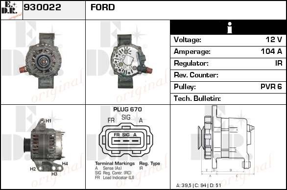 alternateur change standard pour ford fiesta v jh jd. Black Bedroom Furniture Sets. Home Design Ideas