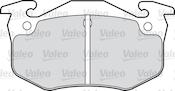 Photo de la pièce Jeu de 4 plaquettes de frein arrière VALEO 598396