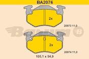 Photo de la pièce Jeu de 4 plaquettes de frein arrière BARUM BA2076