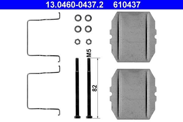 kit d 39 accessoires plaquette de frein disque ate 610437 wda. Black Bedroom Furniture Sets. Home Design Ideas