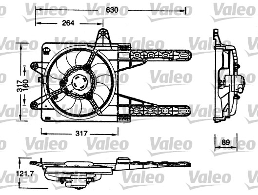 moteur  u00e9lectrique  ventilateur pour radiateurs pour fiat punto  176  cabriolet 85 16v 1 2 86cv