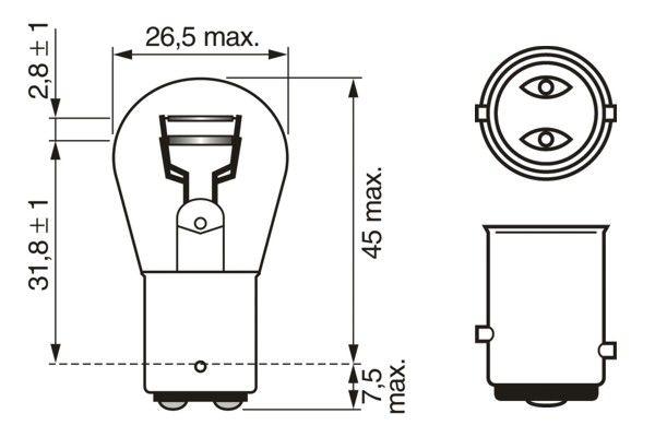 ampoule feu stop feu arri re pour renault clio wda. Black Bedroom Furniture Sets. Home Design Ideas
