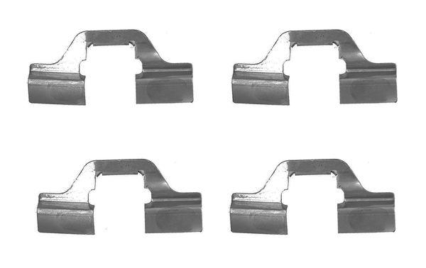 kit d 39 accessoires plaquette de frein disque pour renault clio iii 1 5 dci c br1g 68cv wda. Black Bedroom Furniture Sets. Home Design Ideas