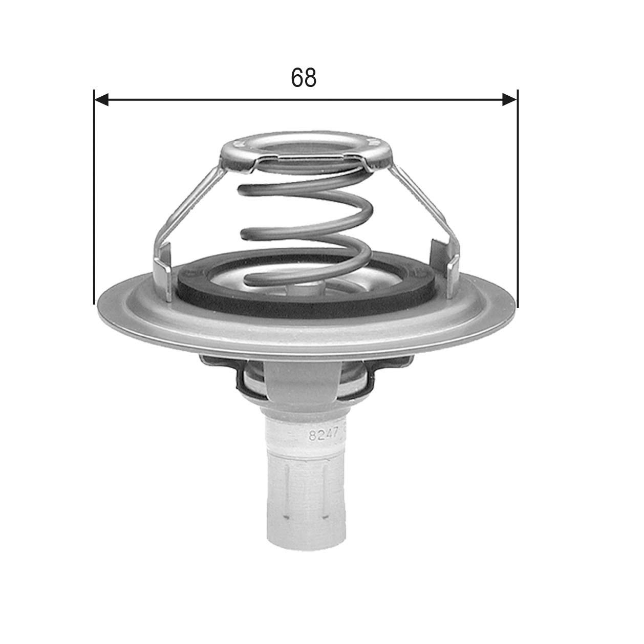thermostat d 39 eau pour peugeot 605 6b 2 1 td 12v 109cv wda. Black Bedroom Furniture Sets. Home Design Ideas