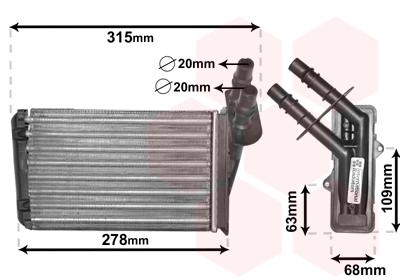 radiateur de chauffage pour renault clio ii 1 2 lpg 58cv wda. Black Bedroom Furniture Sets. Home Design Ideas