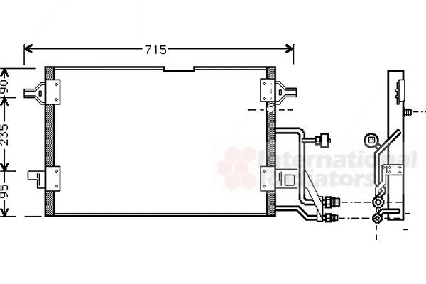 condenseur  climatisation pour audi a4  b5  1 9 tdi 90cv