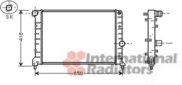 radiateur du moteur pour alfa romeo 147  937  1 9 jtd