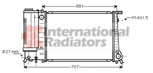 radiateur du moteur pour bmw serie 5  e34  525 i 24v 192cv