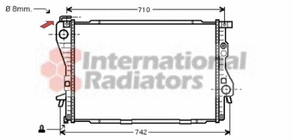 radiateur du moteur pour bmw serie 5  e39  525 tds 143cv