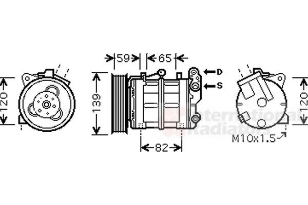 compresseur  climatisation pour nissan terrano ii  r20  3