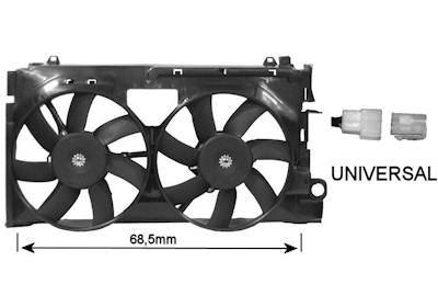 ventilateur refroidissement du moteur van wezel 0955749 wda. Black Bedroom Furniture Sets. Home Design Ideas