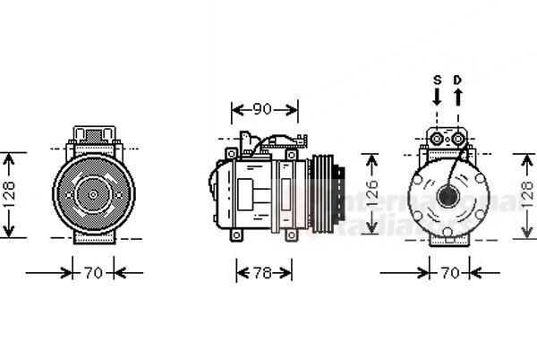 compresseur  climatisation pour mercedes