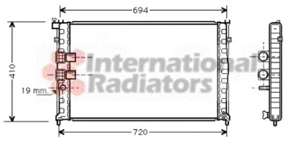 radiateur du moteur pour peugeot 406 coup u00e9  8c  3 0 v6 24v