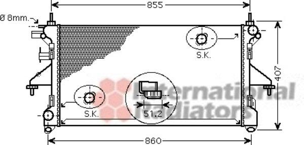 radiateur du moteur pour fiat ducato iii camion 120 multijet 2 3 d 120cv