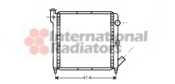 radiateur du moteur pour renault super 5 wda. Black Bedroom Furniture Sets. Home Design Ideas