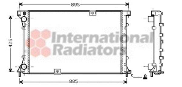 radiateur du moteur pour renault trafic ii autobus 2 5 dci