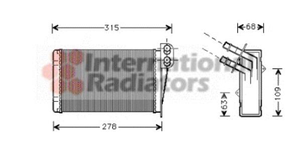radiateur de chauffage pour renault clio ii 1 5 dci b cb07 65cv wda. Black Bedroom Furniture Sets. Home Design Ideas