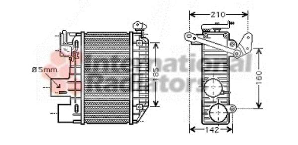 intercooler   u00e9changeur pour toyota avensis  t22  2 0 d