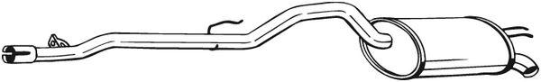 silencieux arri re pour renault twingo i 1 2 16v c06c c06d c06k 75cv wda. Black Bedroom Furniture Sets. Home Design Ideas