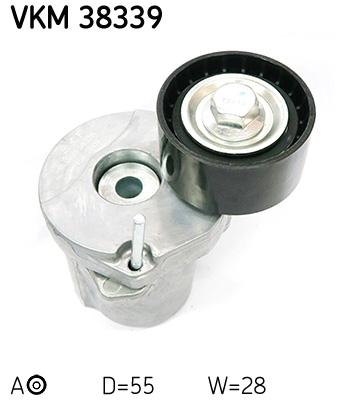 galet tendeur de courroie d 39 accessoires pour bmw serie 3 touring e91 320d 163cv wda. Black Bedroom Furniture Sets. Home Design Ideas