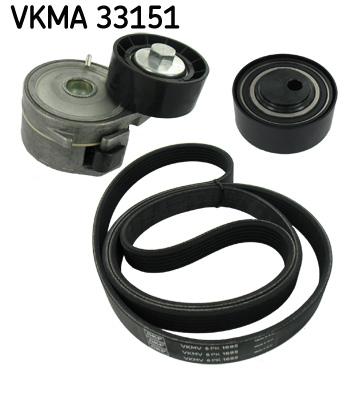 kit de courroies d 39 accessoires pour peugeot partner camionnette 5 1 9 d 69cv wda. Black Bedroom Furniture Sets. Home Design Ideas
