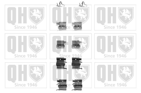 kit d 39 accessoires plaquette de frein disque pour toyota auris 1 4 d 4d 90cv wda. Black Bedroom Furniture Sets. Home Design Ideas