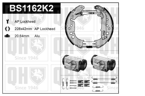 kit de freins freins tambours pour fiat punto 199. Black Bedroom Furniture Sets. Home Design Ideas