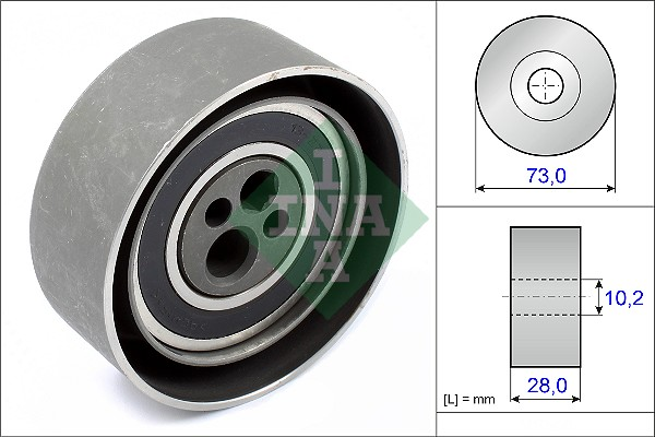 galet tendeur de courroie de distribution pour audi 100 c4 2 8 e 174cv wda. Black Bedroom Furniture Sets. Home Design Ideas