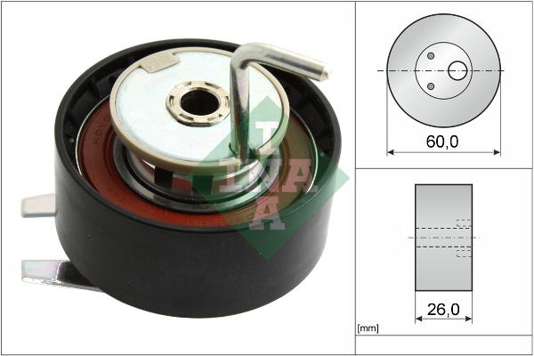 galet tendeur de courroie de distribution pour peugeot 407 coup 2 7 hdi 204cv wda. Black Bedroom Furniture Sets. Home Design Ideas