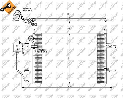 condenseur  climatisation pour mercedes